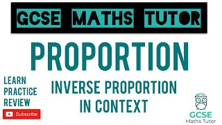 Inverse Proportion in Context   GCSE Maths Tutor