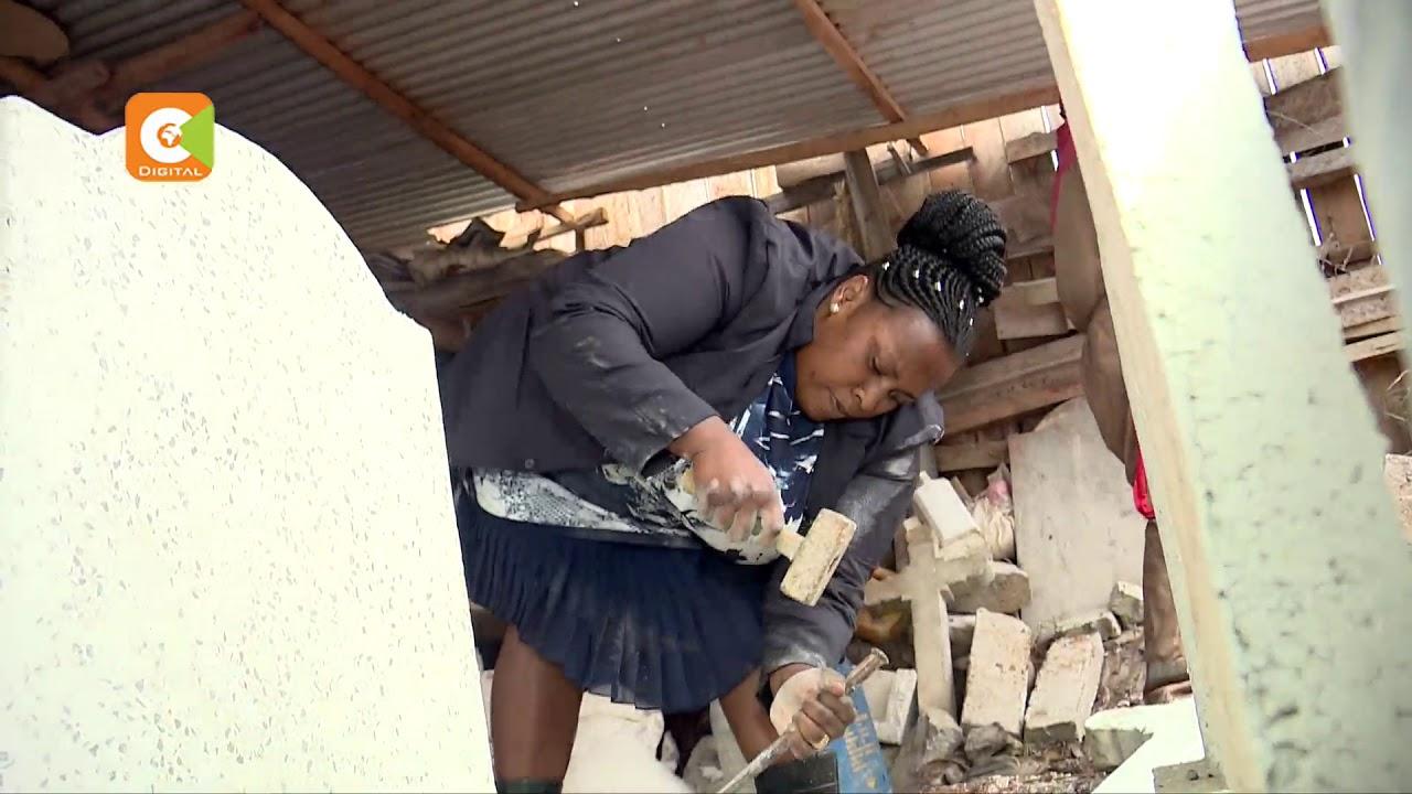 MWANAMKE BOMBA | Ann Wangare, hutengeneza mawe ya ukumbusho #1