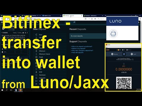 How to deposit cryptocurrency into your Bitfinex account (Luno, Jaxx)