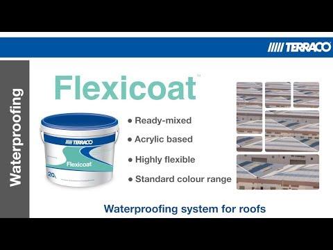 Flexicoat Waterproof Acrylic Roof Coating Youtube