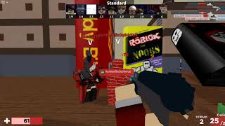 Roblox Arsenal but its a man with other friends