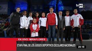 Presidente Vizcarra presenta etapa final de los Juegos Deportivos Escolares Nacionales
