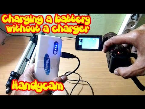 Charging A Battery Handycam Without A Charger