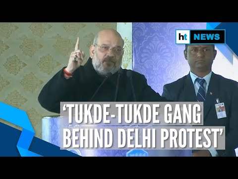 'Congress led tukde-tukde gang behind CAA protests in Delhi': Amit Shah