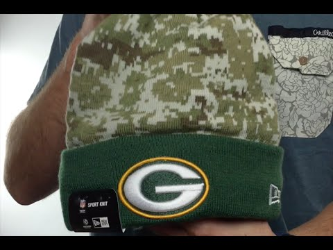 f6281298f Packers  2015 SALUTE-TO-SERVICE  Knit Beanie Hat by New Era - YouTube