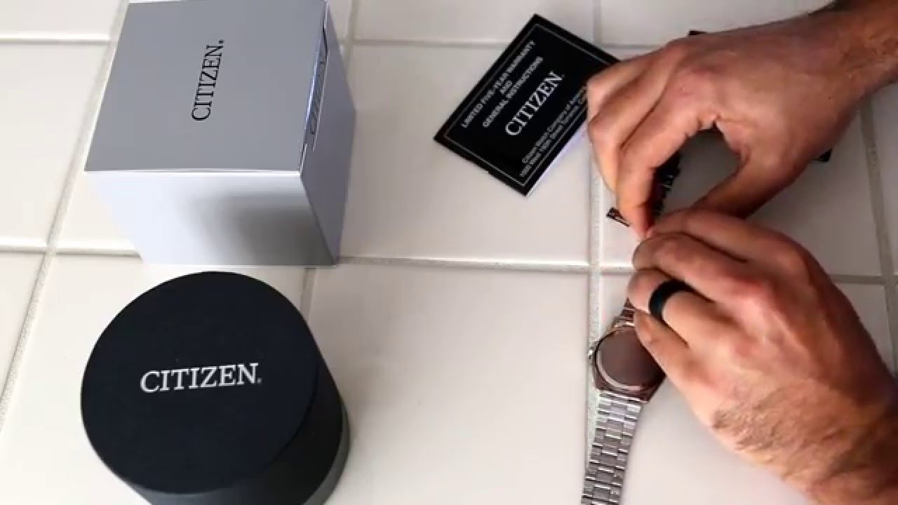 How To Shorten Your New Citizen Watch Band Non Pin Style Using A Nail You