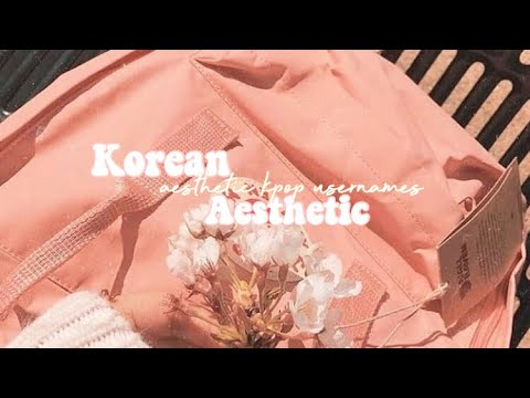 ☾ ↳ aesthetic korean usernames☽ ↲