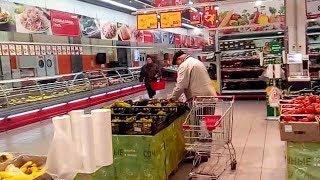 Обзор цен на продукты в  гипермаркете