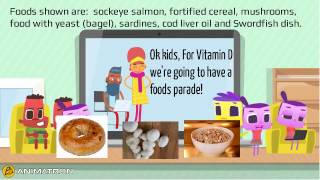 My Youtube video - Vitamin D Foods Parade