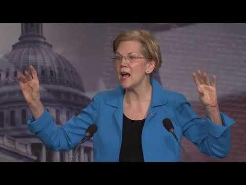 Senator Elizabeth Warren's Press Conference on Senate Bank Deregulation Bill