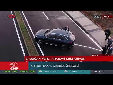 Cumhurbaşkanı Recep Tayyip Erdoğan yerli otomobili sürdü