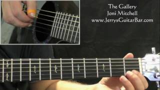 How To Play Joni Mitchell The Gallery (intro only)