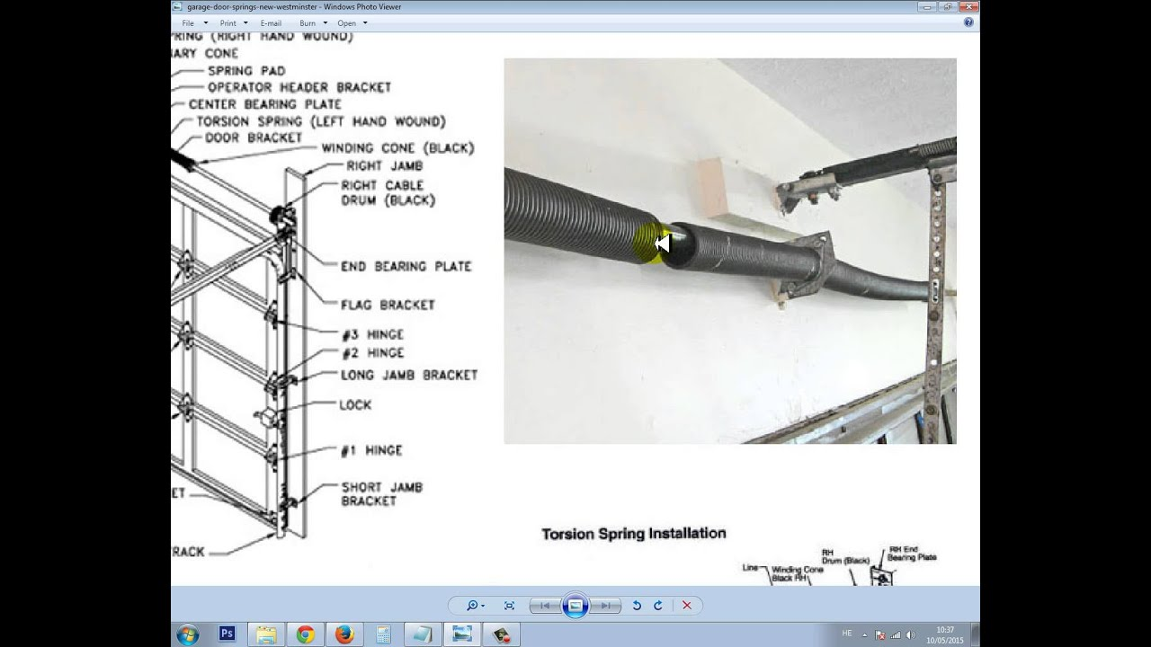 Identify & Repair A Broken Garage Door Spring in New ... on New Garage Door Springs  id=33202