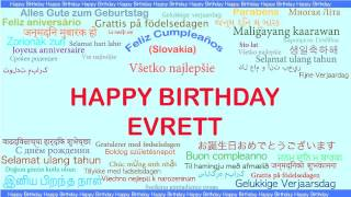 Evrett   Languages Idiomas - Happy Birthday