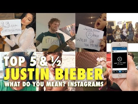 Top 5 & ½: Justin Bieber What Do You Mean Instagram Posts