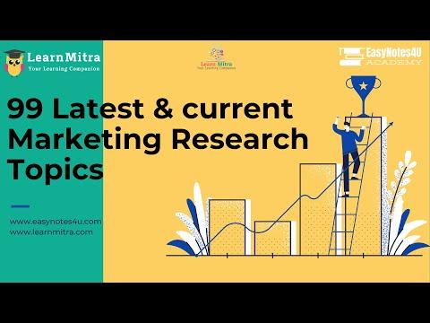 99 Latest Marketing Research Topics