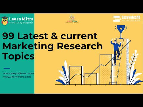 99 latest marketing research topics
