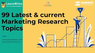 marketing research topics for students