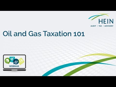 Oil and Gas Taxation 101
