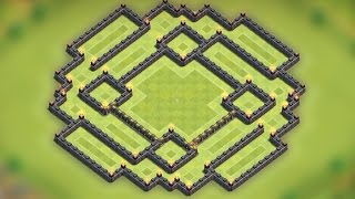 Clash of clans - Town hall 9 (TH9) Farming base [The trap ver.2] Speed build