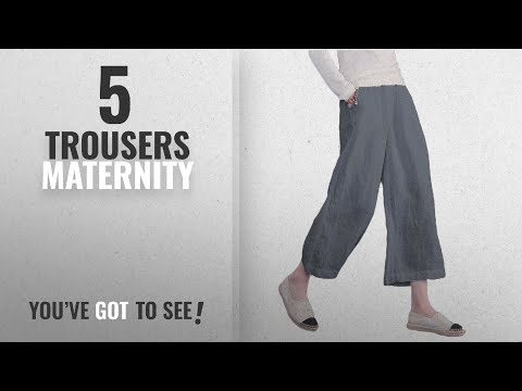Top 10 Trousers Maternity [2018]: Ecupper Women's Casual Loose Plus Size Elastic Waist Cotton