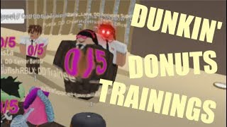 TROLLING AT DUNKIN' DONUTS TRAININGS - ROBLOX