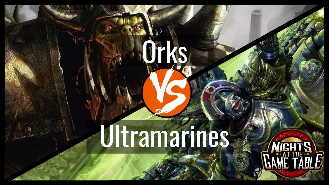 Kingslayer Shadowspear Ultramarines Vs Meganobz Orks Warhammer 40k Battle Report Youtube
