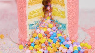 Flour Shop's Sprinkle Explosion Cakes Are Gorgeous and SO SATISFYING (ASMR!)