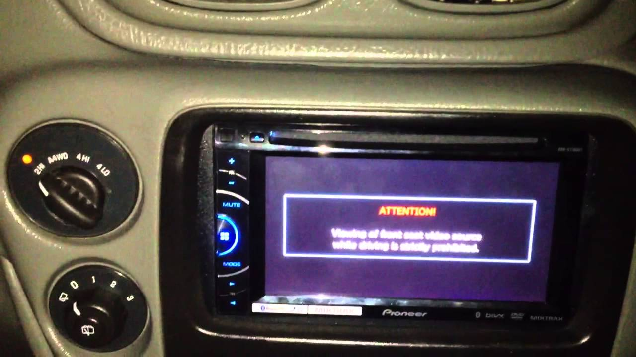 pioneer avh xbt installed    chevy trailblazer