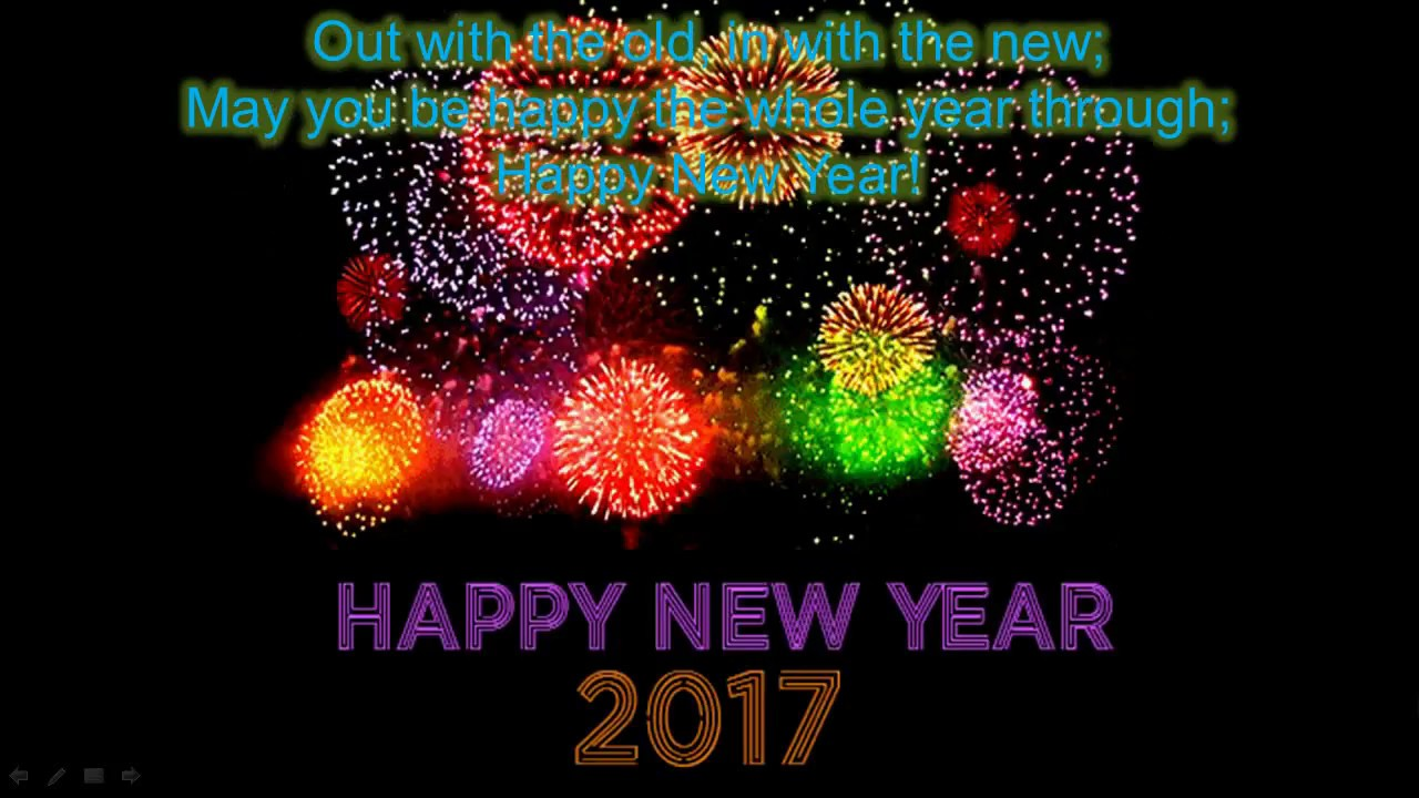 Happy New Year 2017 New Year Wishes Greetings Whatsapp Video E