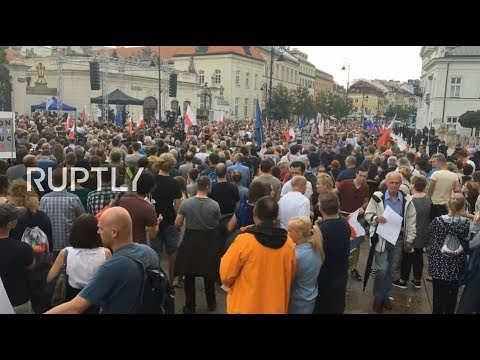 LIVE: Protesters rally against judicial reforms in Warsaw