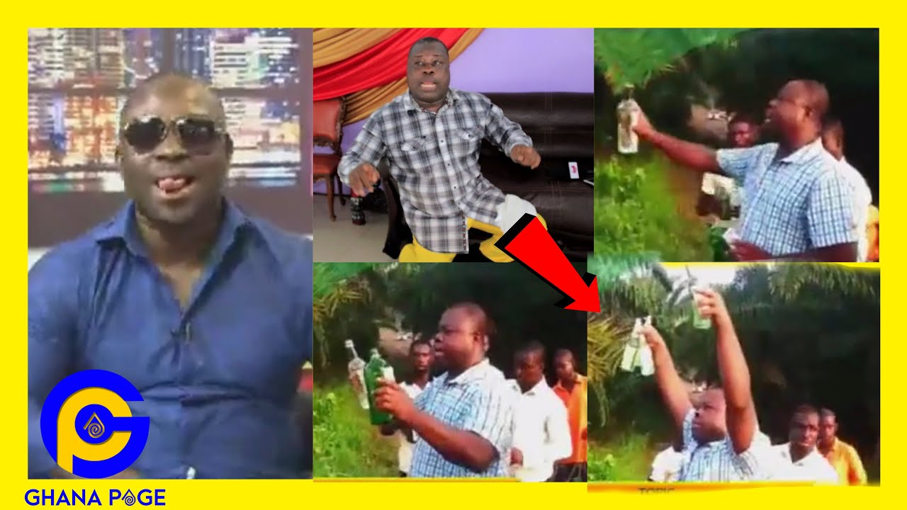 Prophet Kwabena Tawiah heαvily £XP0SED as video of him poʊring Libαtion to his gods drops