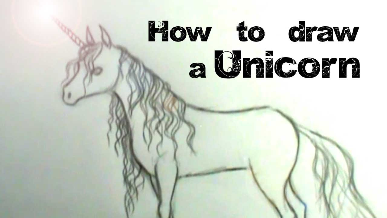 how to draw a unicorn youtube