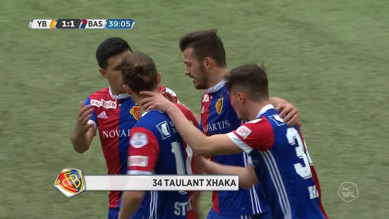 taulant xhaka goal vs young boys - taulant xhaka goal- BSC Young Boys 1-2 FC Basel(amazing long shot