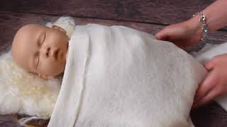 Felted Organic Set wrapping , Newborn Photography Props  Ababa Baby Props Demo video5