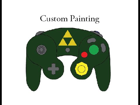 how to custom paint a gamecube controller youtube