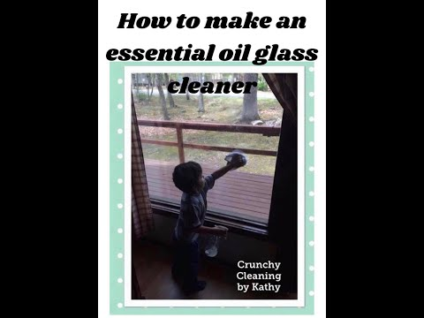 Homemade glass, mirror, wood cleaner with rubbing alcohol & essential oils recipe