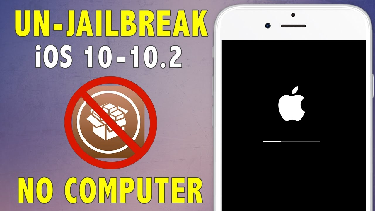 How to unjailbreakremove jailbreak on ios 10 102 delete how to unjailbreakremove jailbreak on ios 10 102 delete cydia restore without updating ccuart Choice Image