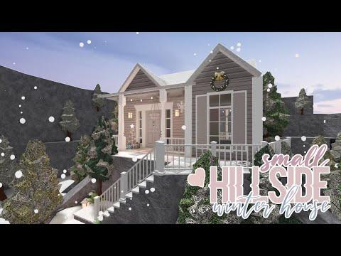 bloxburg-:-small-hillside-winter-house-speedbuild
