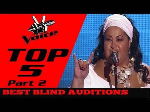 BEST TOP 5 THE VOICE in The World(Blind Auditions) Part 2
