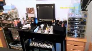 My Makeup Storage & Vanity 2012 - Clear Cube, Muji, & More - Oh My!