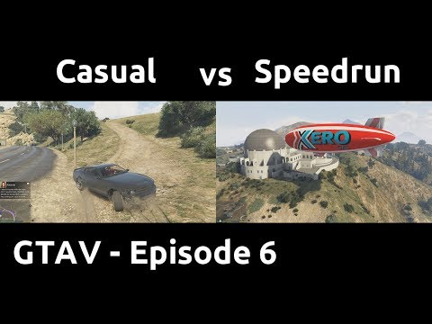 Casual VS Speedrun in GTAV #6 - Air, Ground and Sea