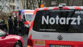 Wiesbaden - Verletzte bei Feuer in Mehrfamilienhaus