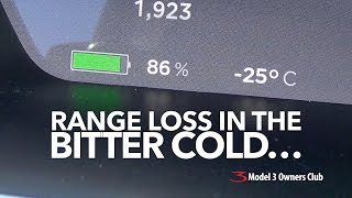 Range loss in the bitter cold | Model 3 Owners Club