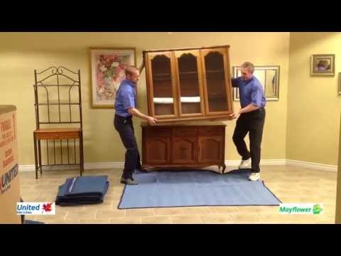 Highland Moving: How to Blanket Wrap a Dining Room Hutch Top