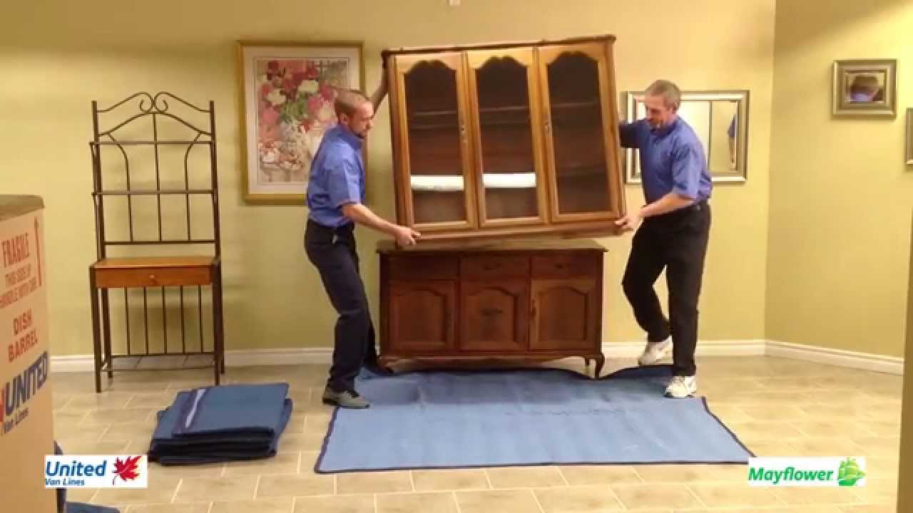 highland moving how to blanket wrap a dining room hutch top youtube