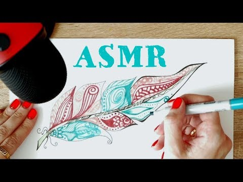АСМР Антистресс 💟 Перо и узоры ➰ Рисование в стиле Дудлинг очень расслабляет и помогает уснуть