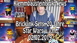 LEGO aktuell: Bricklink-Sets, 20 Jahre LEGO Star Wars Sets, neue BrickHeadz, Control+ uvm (News)