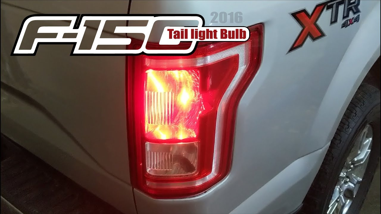 2016 F150 Tail Light Bulb Replacement Youtube