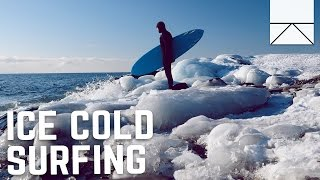 Surfing In The Freezing Waters Of The East Coast